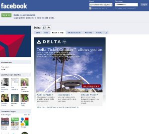 Delta facebook e-commerce application