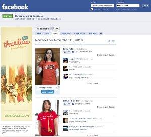 Threadless facebook eshop